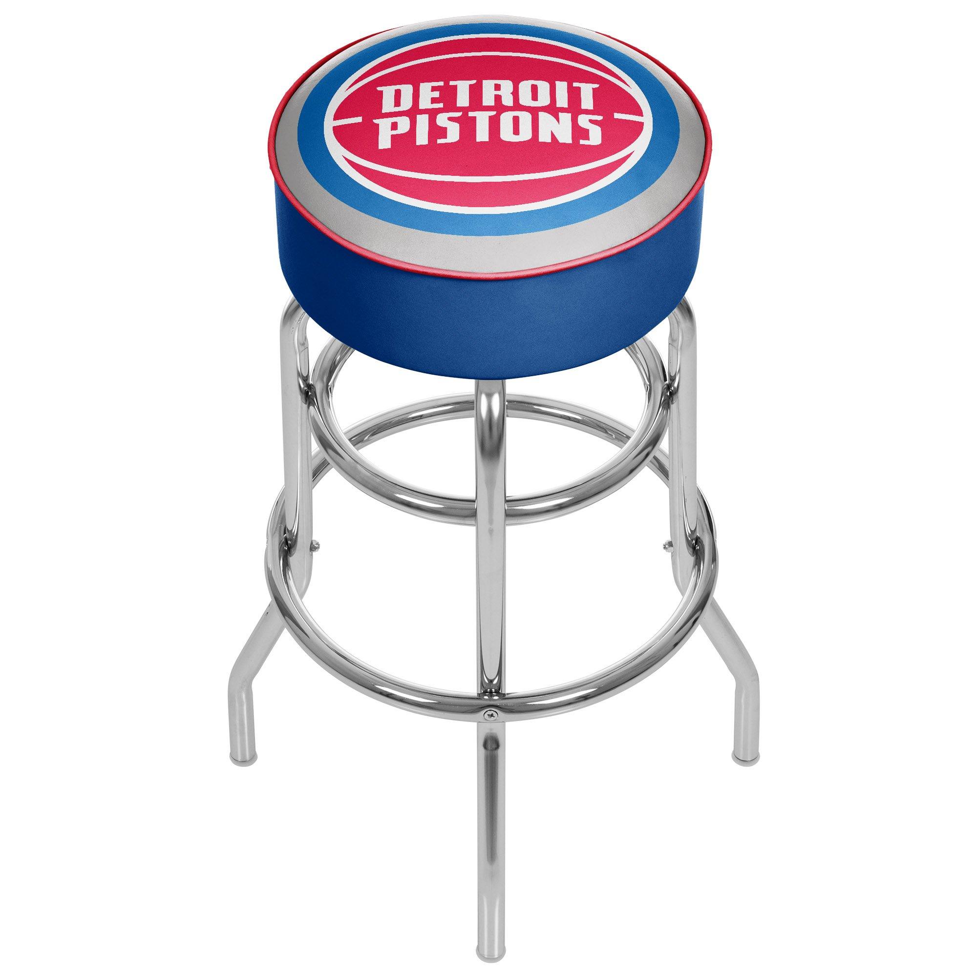 Trademark Gameroom NBA Detroit Pistons Padded Swivel Bar Stool