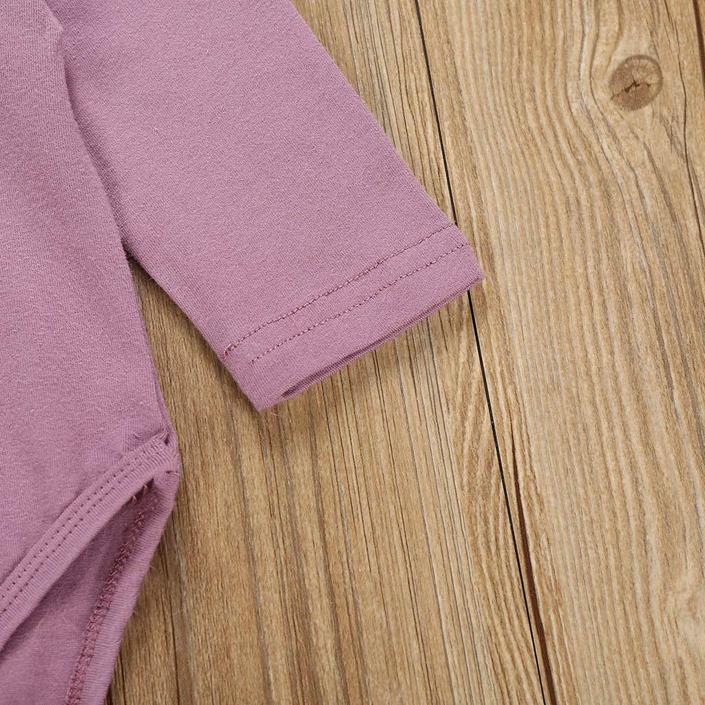 TUDUZ Beb/é Ni/ña Manga Larga Body Camisetas Carta Mono Pantalones Florales Venda De Pelo Ropa Conjunto Reci/én Nacido