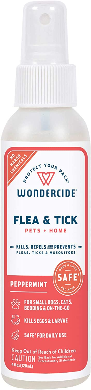 Wondercide Natural Products - Flea, Tick and Mosquito Control Spray for Dogs, Cats, and Home - Flea and Tick Killer, Prevention, Treatment - Eco-Friendly and Family Safe