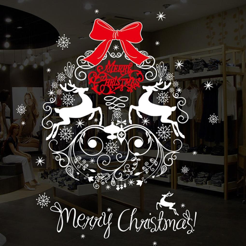 URSING Christmas Wanddekoration Wohnzimmer Weihnachtssticker ...