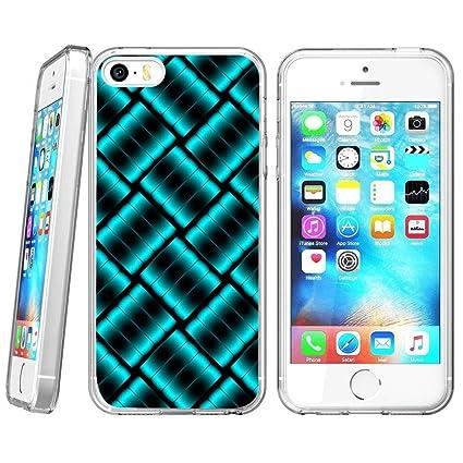 Amazon com: Retro Case Blue Crystal Lattice for iPhone SE 5s