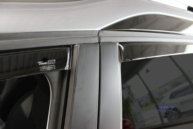 J/&J AUTOMOTIVE Windabweiser Regenabweiser f/ür Peugeot 2008 5-t/ürer ab 2013 4tlg HEKO dunkel