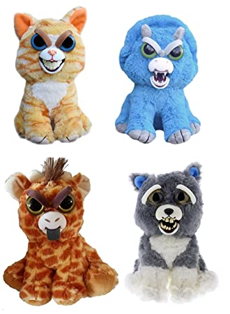 "William Mark Corp Feisty Pets 8"" Mixed Emotions Plush Bundle: Cat, Dog,"