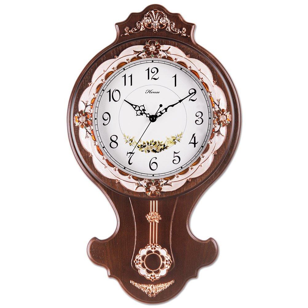 HENSE CLOCKS(ハンセ) 掛け時計 振子時計 HP03-A-02 ブラウン B01CV6Y4BG HP03-A-02 ブラウン HP03-A-02 ブラウン