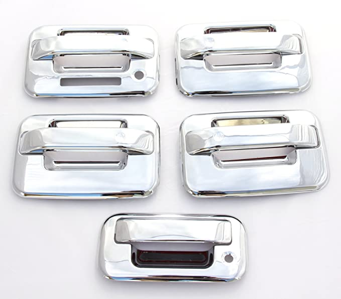 Triple Chrome Plated 4 Door Handle W//Keyhole Cover fit 06-11 Jeep Commander