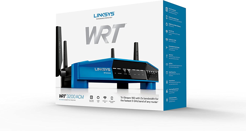 Linksys WRT3200ACM-UK Dual-band (2.4 GHz / 5 GHz) Gigabit Ethernet ...