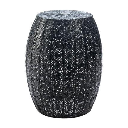 Prime Amazon Com Indoor Garden Stool Black Moroccan Lace Modern Machost Co Dining Chair Design Ideas Machostcouk