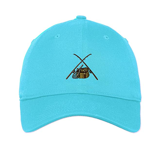 a5335a8ac72 Sport Fly Fishing Gear Embroidery Unisex Adult Flat Solid Buckle Cotton 6  Panel Low Profile Hat