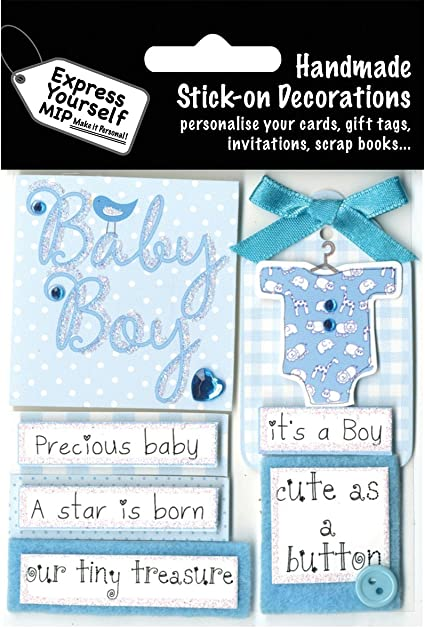 Express Yourself MIP 3D Stickers-Baby Boy Captions