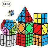 mimisasa Speed Cubes Set 9 Pack Velocidad Cubo 2x2 3x3 4x4 Pyramid Megaminx Mirror Skew Cube