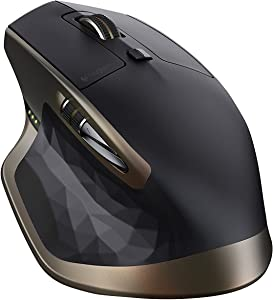 Logitech MX Master Wireless Mouse – Use on Any Surface, Ergonomic Shape, Hyper-Fast Scrolling, Rechargeable, for Apple Mac or Microsoft Windows Computers, Meteorite
