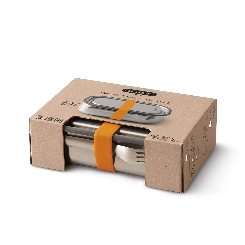 Lunch Box Edelstahl 1l orange