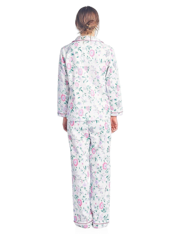 Casual Nights Womens Sleepwear Flannel Long Sleeve Pajama Set