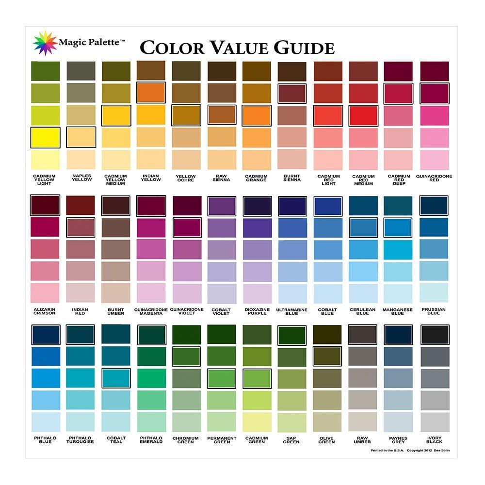 Color Wheel Magic Palette Artists Color Value Guide,Multi