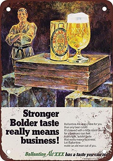 HiSign Ballantine Ale XXX Beer Retro Cartel de Chapa Coffee ...