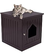 Casa para gato y mesa auxiliar, 2 en 1, 49 x 51 x 51