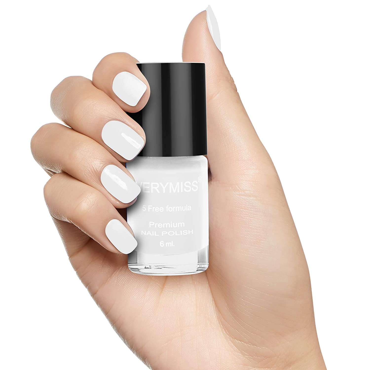 Buy Verymiss Premium Nail Polish 6ml - White Online at Low Prices in India  - Amazon.in