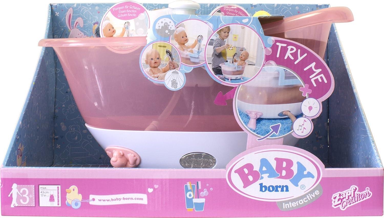 Amazon.es: Lansay 90110 - Baby Born - Bañera Interactive: Juguetes y juegos