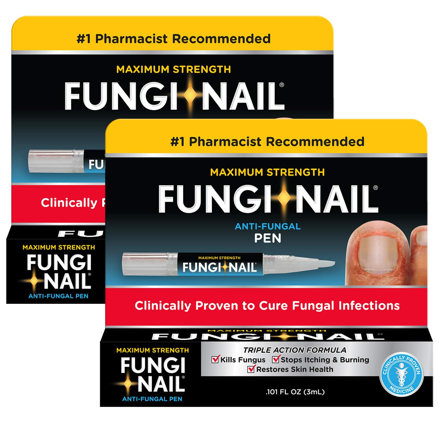 Fungi Nail Fungi-nail Pen applicator Anti-fungal Solution, 0.10 Ounce (Pack of 2) by Fungi Nail