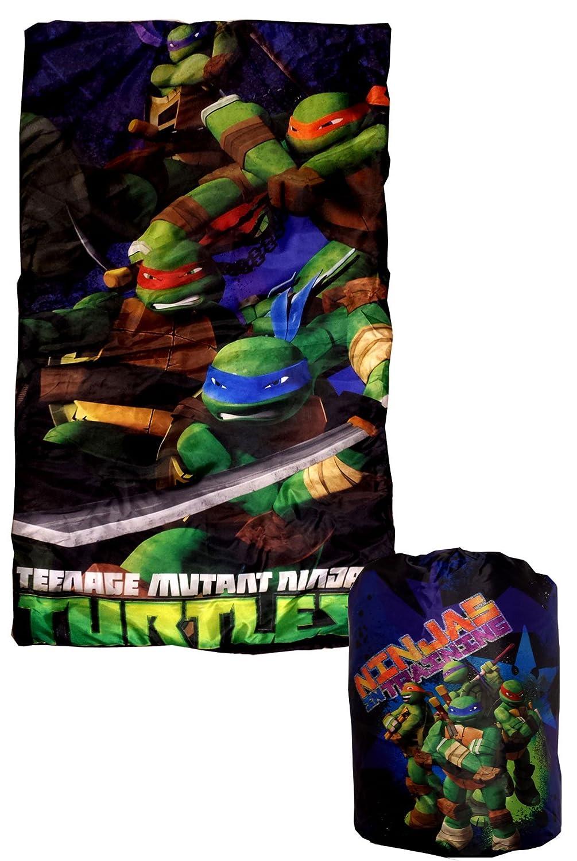Amazon.com: Teenage Mutant Ninja Turtles Sleeping Bag Backpack Set: Home U0026  Kitchen