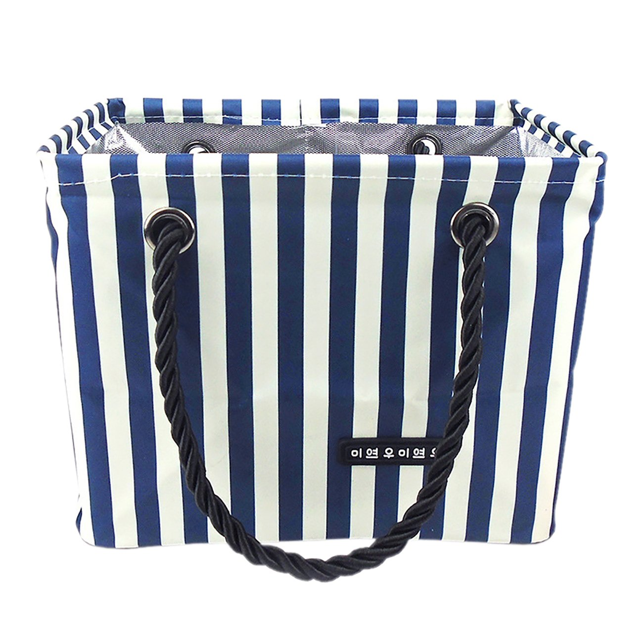 THEE Oxford Stripe Mesh Shower Caddy Shower Tote Bathrooms Bag