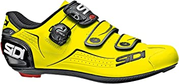 Sidi Mens Alba Carbon Cycling Shoes Flourescent Yellow/Black 45