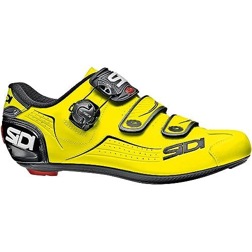 Sidi Zapatillas de Ciclismo de Material Sintético para Hombre Amarillo Amarillo Fluo: Amazon.es: Zapatos y complementos