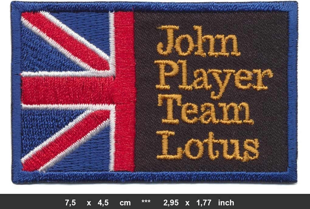 John Player Special Team Lotus Racing  patch Iron on Embroidered Emblem F1 Rally