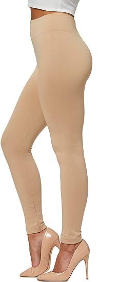 Womens High Waisted Leggings Thermal Full Length Plus Sizes 8 10 12 14 16 18 20+