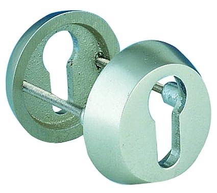 Aluminio anodizado Alpertec embellecedor picaporte puerta, plata, 40111910K1