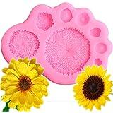 Mujiang Daisy Sunflower Stamen Silicone Molds Fondant DIY Cake Decorating Molds