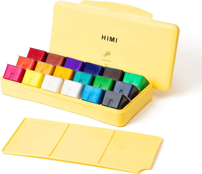 HIMI Gouache  set de 18 colores 30cm (caja amarilla)