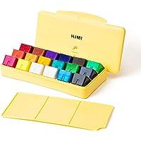 MIYA HIMI Gouache Paint Set 18 Colors (30ml/Pc) Paint Set Unique Jelly Cup Design Non Toxic Paints for Artist, Hobby…