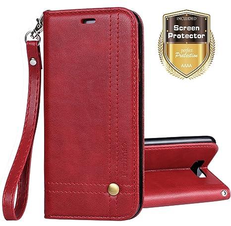Ferilinso Funda Huawei P8 Lite 2017, Carcasa Cuero Retro Elegante con ID Tarjeta de Crédito Tragamonedas Soporte de Flip Cover Estuche de Cierre ...