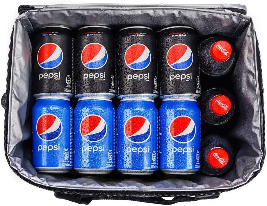 Rojo//Azul meteor Bolsa T/érmica Porta Alimentos 30L para Senderismo Aire Libre Playa Picnic Fiestas Plegable Port/átil Bolsa de Almuerzo