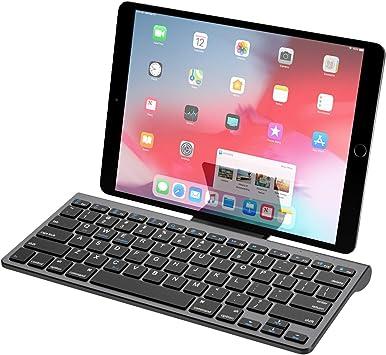 MoKo Teclado de Bluetooth, Ultra-Delgado y Portátil Teclado Inalámbrico con Batería Recargable Compatible para Android, Windows, iOS, Phone, Tableta - ...