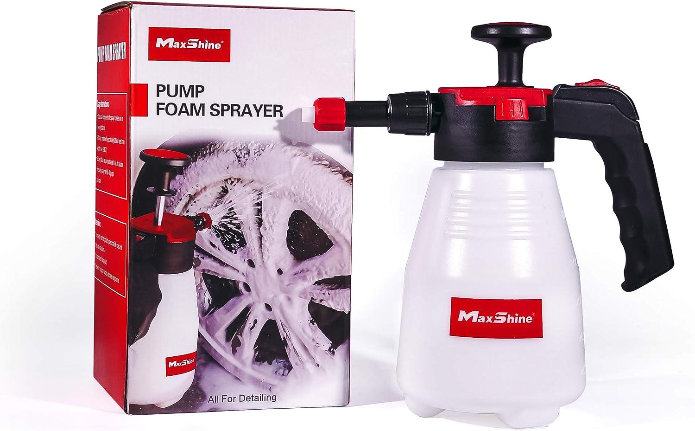 Maxshine 1.5L Pump Foam Sprayer Hand Pressure Foam Sprayer for Car Detailing Home Cleaning and Garden Use