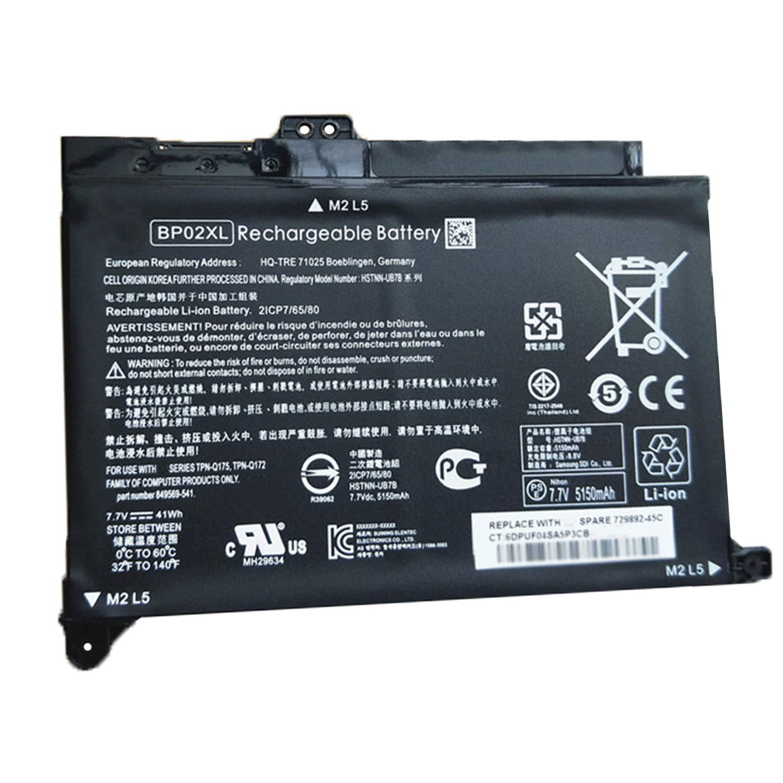 Bateria Dentsing Bp02xl Compatible Hp Pavilion Pc 15 15-au000 15-au010wm 15-au018wm 15-aw000 Series Hstnn-ub7b Hstnn-lb7