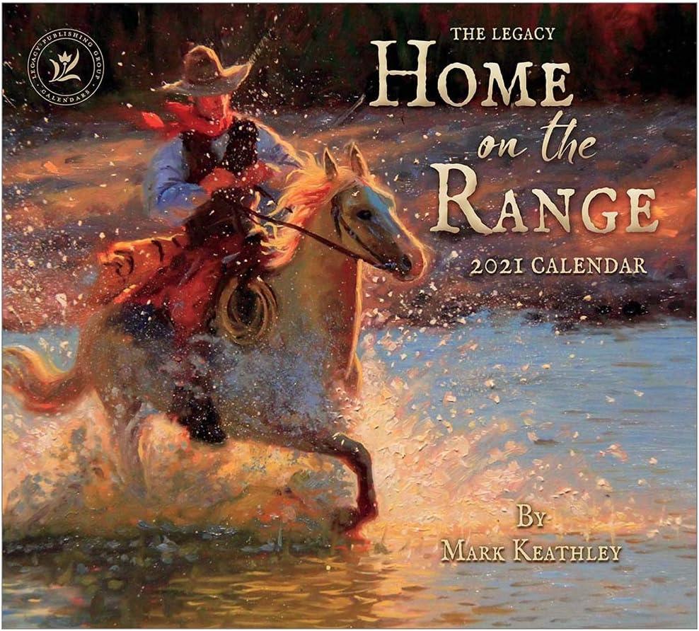 Legacy Publishing Group 2021 Wall Calendar with 2 Greeting Card Bonus, 13 x 12-Inch, Home on The Range (WCA57278)