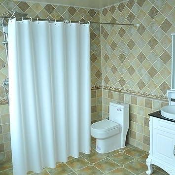 Badezimmerzubehör Hotel Duschvorhang, Badezimmer Pure Weiß ...