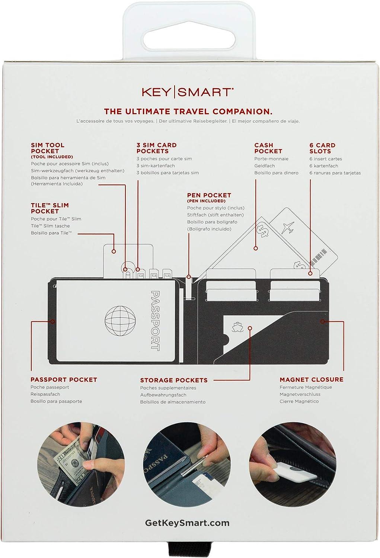 Key Smart KS838GRY Urban Passport Portafogli RFID Protezione