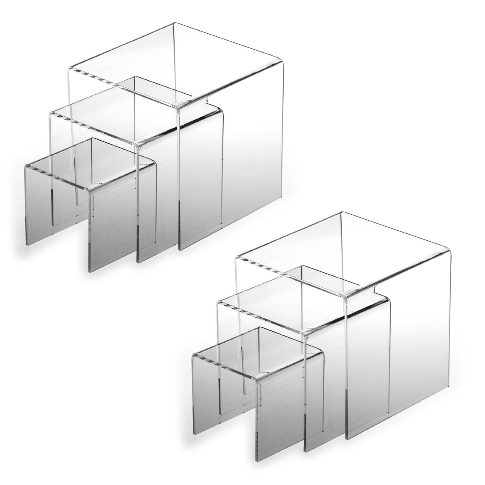 Adorox Top Quality (2 Set) Clear Acrylic Display Riser by Adorox (Image #1)