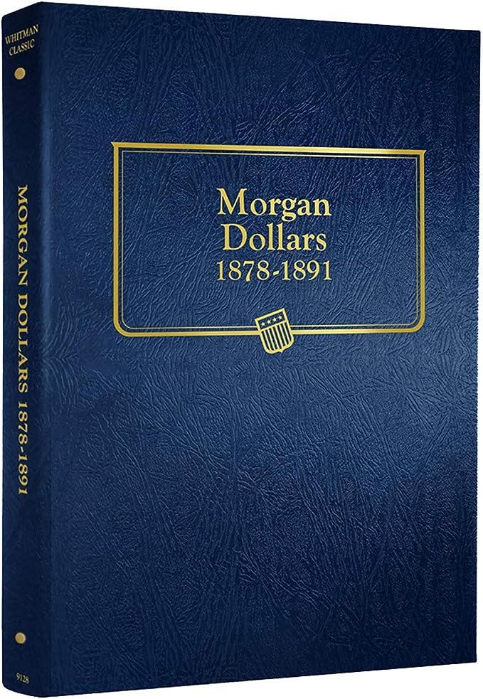 Whitman Coin Folder Morgan Silver Dollars 1884-1890.