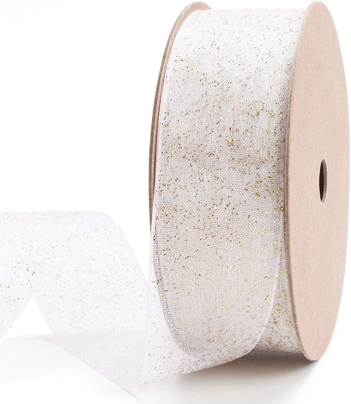 Gold//Silver Sheer Organza Ribbon Wedding Party Decor Hand Making Diy Craft