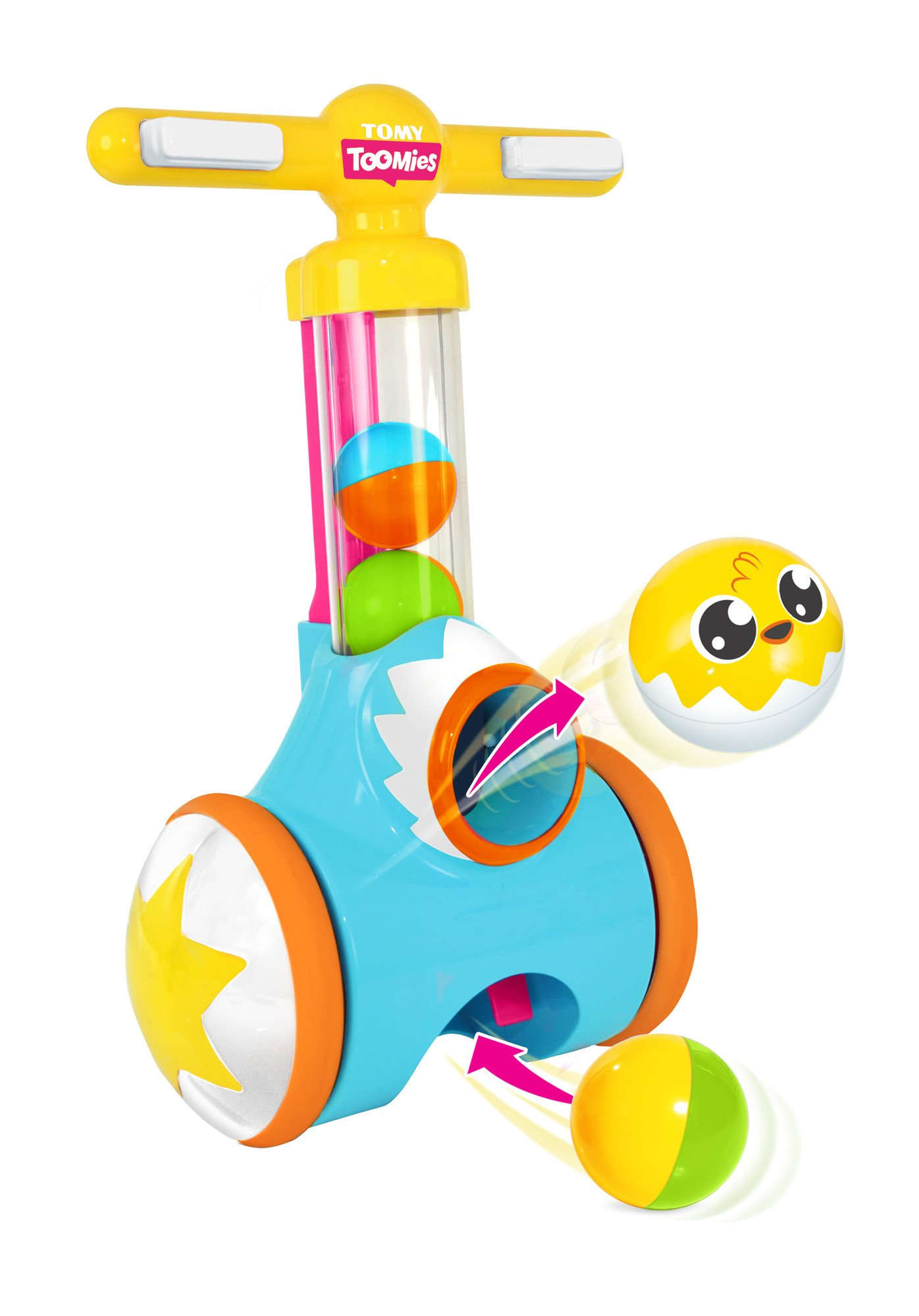 TOMY Toomies Pic and Pop - Walker Toy with ball launcher and collector - Suitable From 18 Months