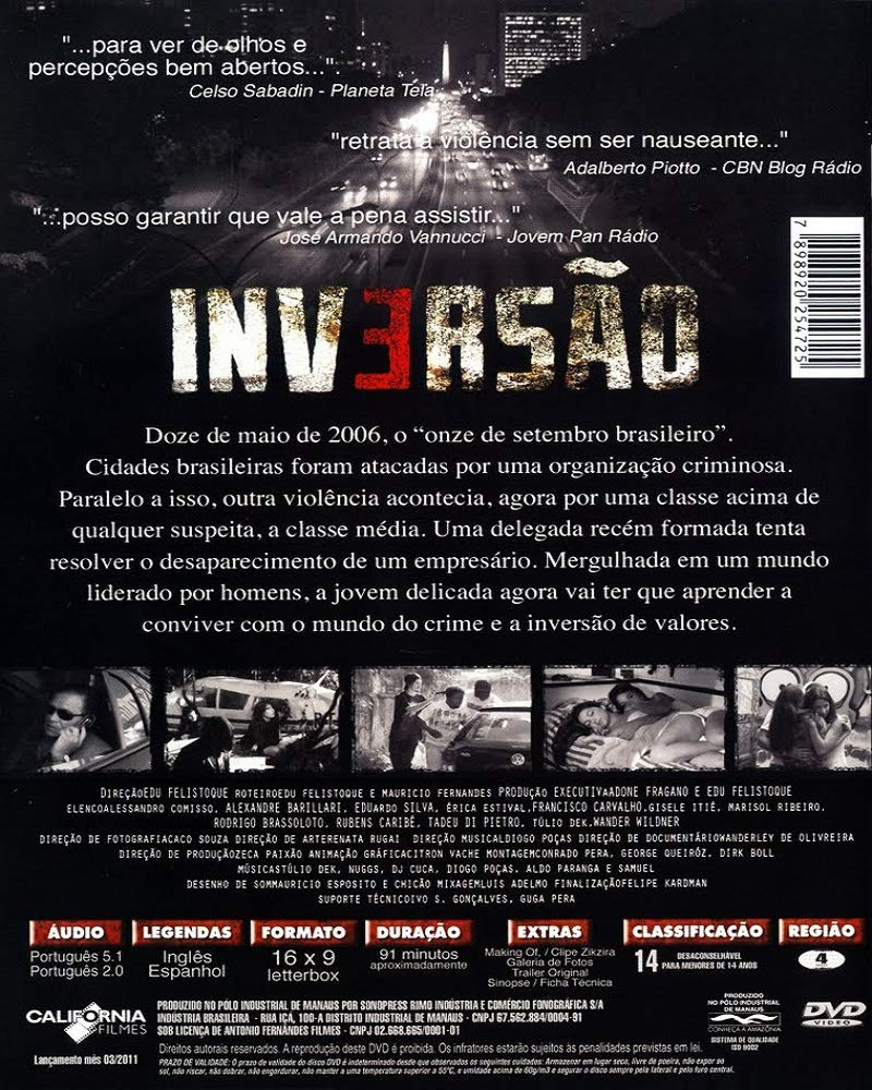 Amazon.com: DVD Inversão [ Subtitles in English + Spanish ] [ Region ALL ]: Marisol Ribeiro, Gisele Itié, Rubens Caribé, Edu Felistoque: Movies & TV