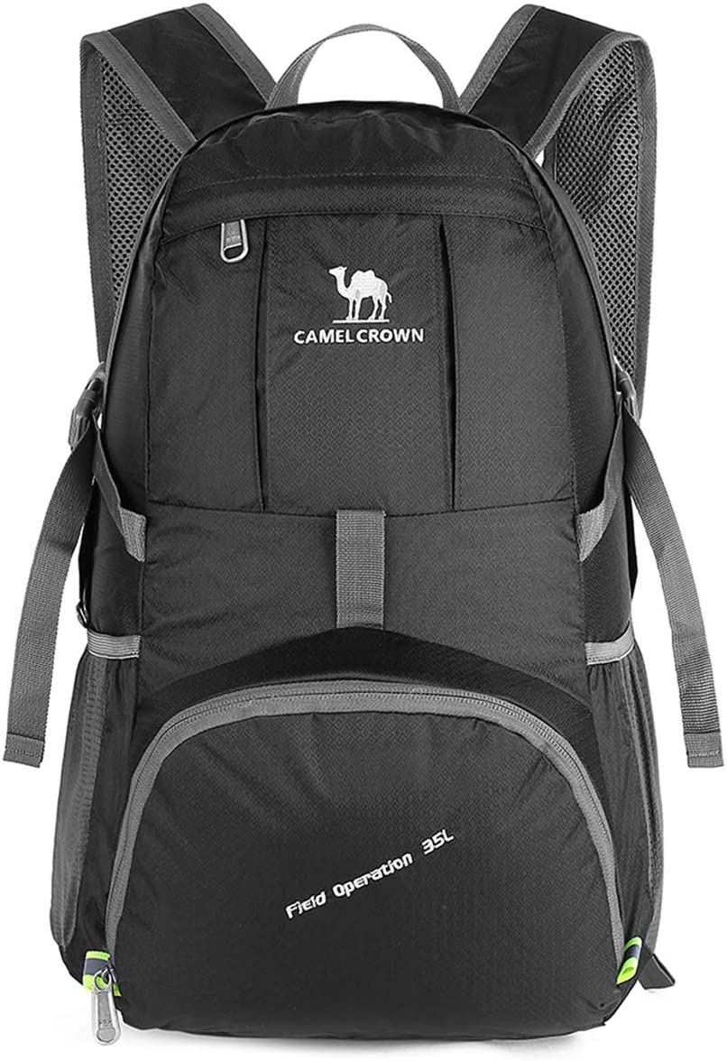 CAMEL CROWN 35L Lightweight Packable Backpack Travel Hiking Daypack for Camping