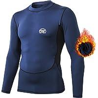 MeetHoo Conjuntos Térmicos para Hombre, Set de Ropa Térmica Camiseta Pantalones Interior Función Deporte Running…