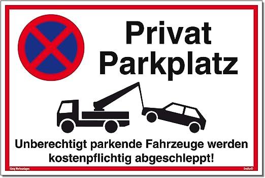 Schild Parken Parkplatz Stellplatz Ihr Text und Piktogramm 3 mm Alu-Vebund
