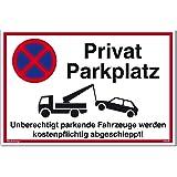 schild parken verboten unberechtigt parkende fahrzeuge. Black Bedroom Furniture Sets. Home Design Ideas